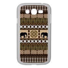 Elephant African Vector Pattern Samsung Galaxy Grand Duos I9082 Case (white)