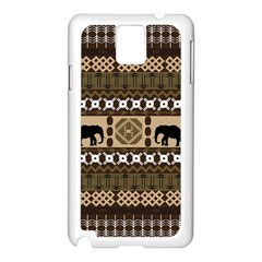 Elephant African Vector Pattern Samsung Galaxy Note 3 N9005 Case (white)