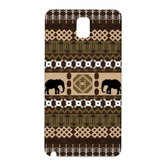 Elephant African Vector Pattern Samsung Galaxy Note 3 N9005 Hardshell Back Case