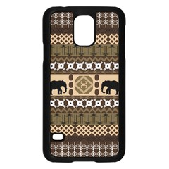 Elephant African Vector Pattern Samsung Galaxy S5 Case (black)