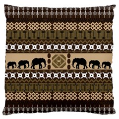 Elephant African Vector Pattern Large Flano Cushion Case (one Side)