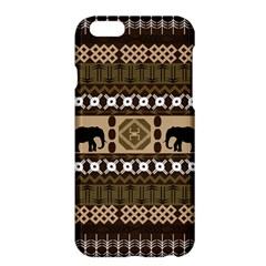 Elephant African Vector Pattern Apple Iphone 6 Plus/6s Plus Hardshell Case