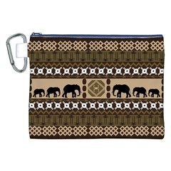 Elephant African Vector Pattern Canvas Cosmetic Bag (xxl)