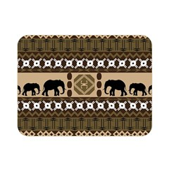 Elephant African Vector Pattern Double Sided Flano Blanket (mini)