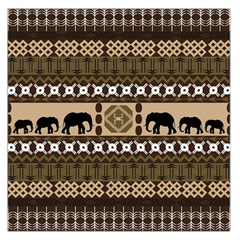 Elephant African Vector Pattern Large Satin Scarf (square)