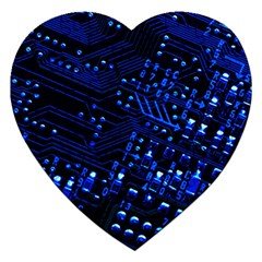Blue Circuit Technology Image Jigsaw Puzzle (heart)