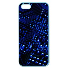 Blue Circuit Technology Image Apple Seamless Iphone 5 Case (color)