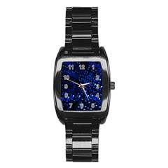 Blue Circuit Technology Image Stainless Steel Barrel Watch