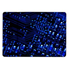 Blue Circuit Technology Image Samsung Galaxy Tab 10 1  P7500 Flip Case