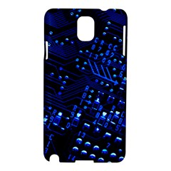Blue Circuit Technology Image Samsung Galaxy Note 3 N9005 Hardshell Case