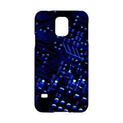 Blue Circuit Technology Image Samsung Galaxy S5 Hardshell Case