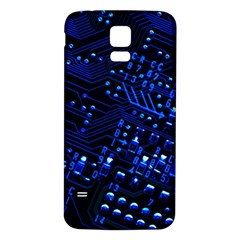 Blue Circuit Technology Image Samsung Galaxy S5 Back Case (white)