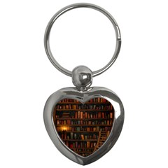 Books Library Key Chains (heart)