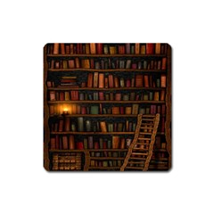 Books Library Square Magnet