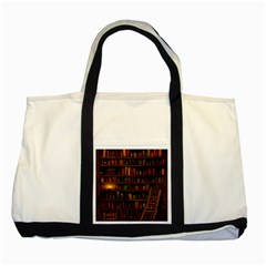 Books Library Two Tone Tote Bag