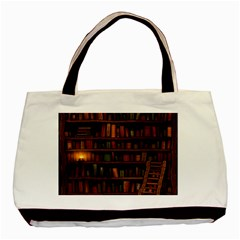 Books Library Basic Tote Bag (two Sides)