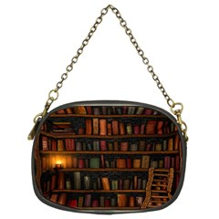 Books Library Chain Purses (two Sides)