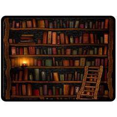 Books Library Fleece Blanket (large)