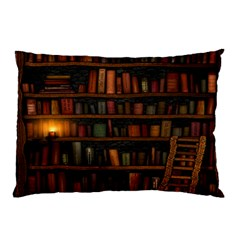 Books Library Pillow Case (two Sides)