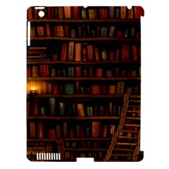 Books Library Apple Ipad 3/4 Hardshell Case (compatible With Smart Cover)