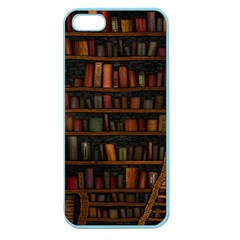 Books Library Apple Seamless Iphone 5 Case (color)