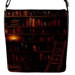 Books Library Flap Messenger Bag (s)