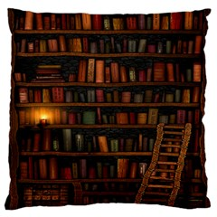 Books Library Standard Flano Cushion Case (one Side)