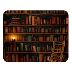 Books Library Double Sided Flano Blanket (large)