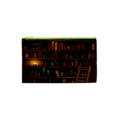 Books Library Cosmetic Bag (xs)