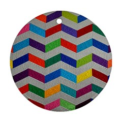 Charming Chevrons Quilt Ornament (round)