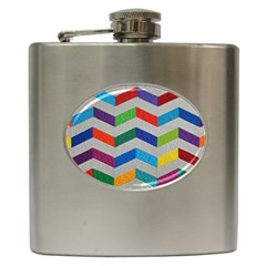 Charming Chevrons Quilt Hip Flask (6 Oz)