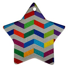 Charming Chevrons Quilt Star Ornament (two Sides)