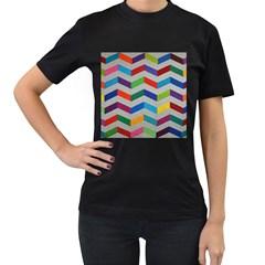 Charming Chevrons Quilt Women s T Shirt (black)