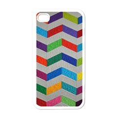 Charming Chevrons Quilt Apple Iphone 4 Case (white)
