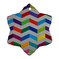 Charming Chevrons Quilt Snowflake Ornament (two Sides)