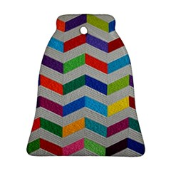 Charming Chevrons Quilt Bell Ornament (two Sides)