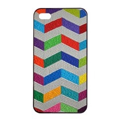Charming Chevrons Quilt Apple Iphone 4/4s Seamless Case (black)