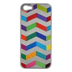 Charming Chevrons Quilt Apple Iphone 5 Case (silver)