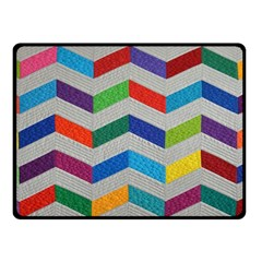 Charming Chevrons Quilt Double Sided Fleece Blanket (small)