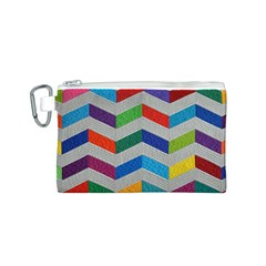 Charming Chevrons Quilt Canvas Cosmetic Bag (s)
