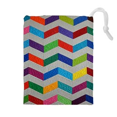 Charming Chevrons Quilt Drawstring Pouches (extra Large)