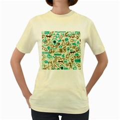 Telegramme Women s Yellow T Shirt