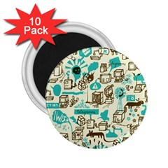 Telegramme 2 25  Magnets (10 Pack)
