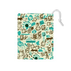 Telegramme Drawstring Pouches (medium)