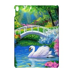 Swan Bird Spring Flowers Trees Lake Pond Landscape Original Aceo Painting Art Apple Ipad Pro 10 5   Hardshell Case