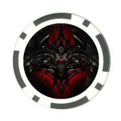 Black Dragon Grunge Poker Chip Card Guard