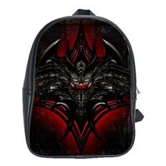 Black Dragon Grunge School Bags (xl)