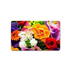 Colorful Flowers Magnet (name Card)