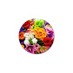 Colorful Flowers Golf Ball Marker