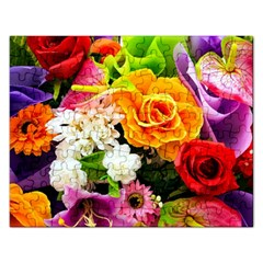 Colorful Flowers Rectangular Jigsaw Puzzl